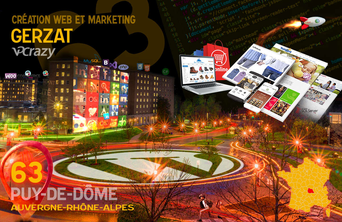 Créateur de site internet Gerzat et Marketing Web