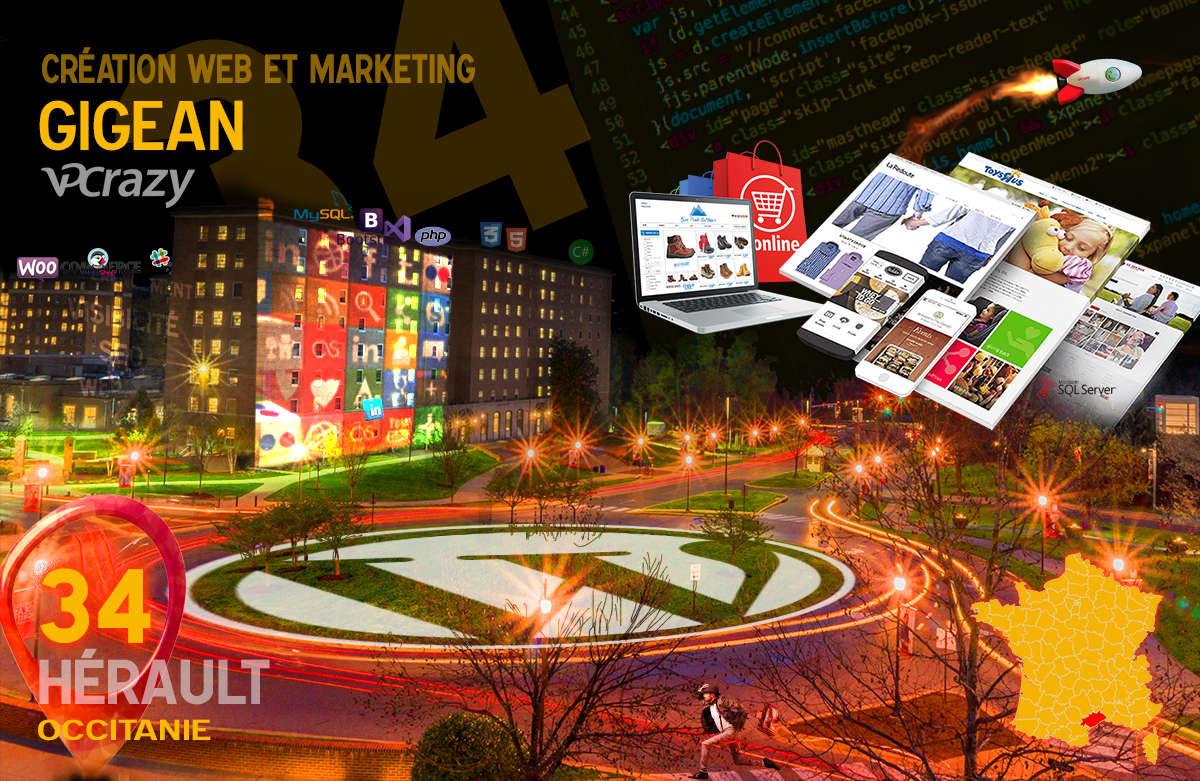 Créateur de site internet Gigean et Marketing Web