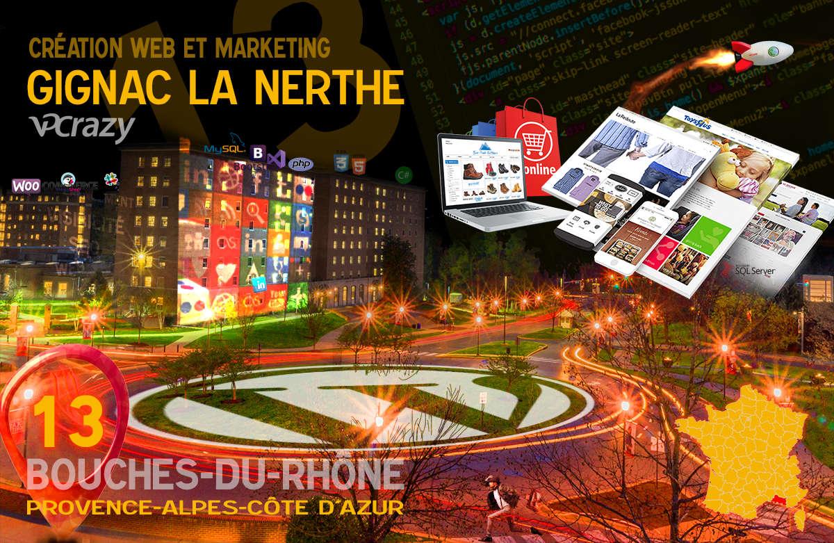 Créateur de site internet Gignac-la-Nerthe et Marketing Web
