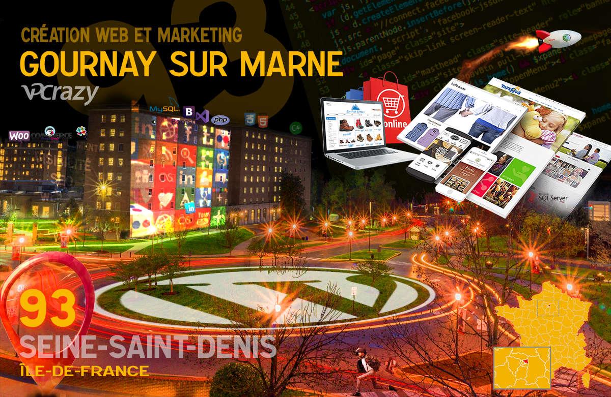 Créateur de site internet Gournay-sur-Marne et Marketing Web