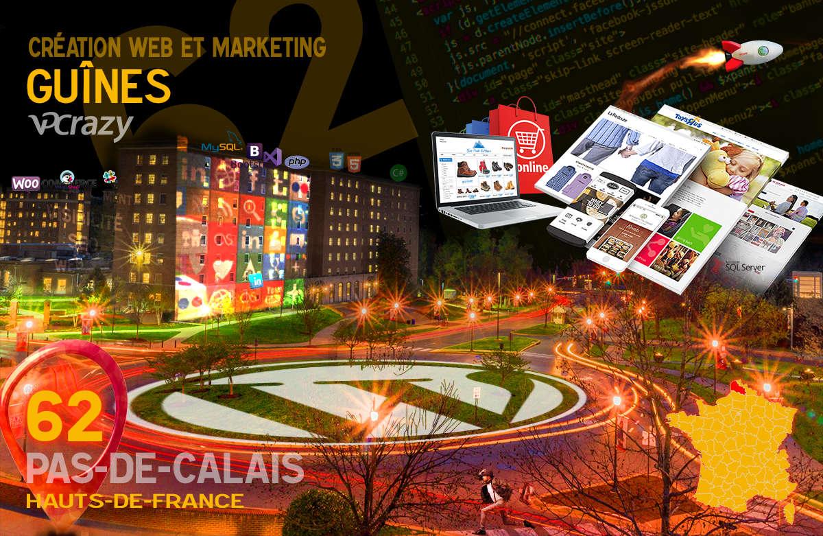 Créateur de site internet Guînes et Marketing Web