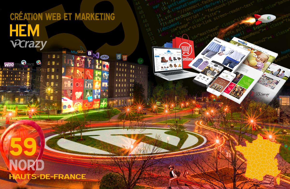 Créateur de site internet Hem et Marketing Web