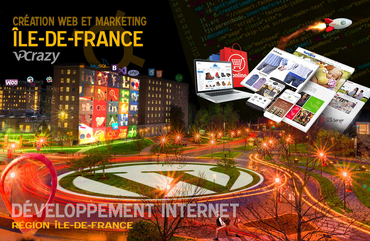 Créateur de site internet Île-de-France et Marketing Web