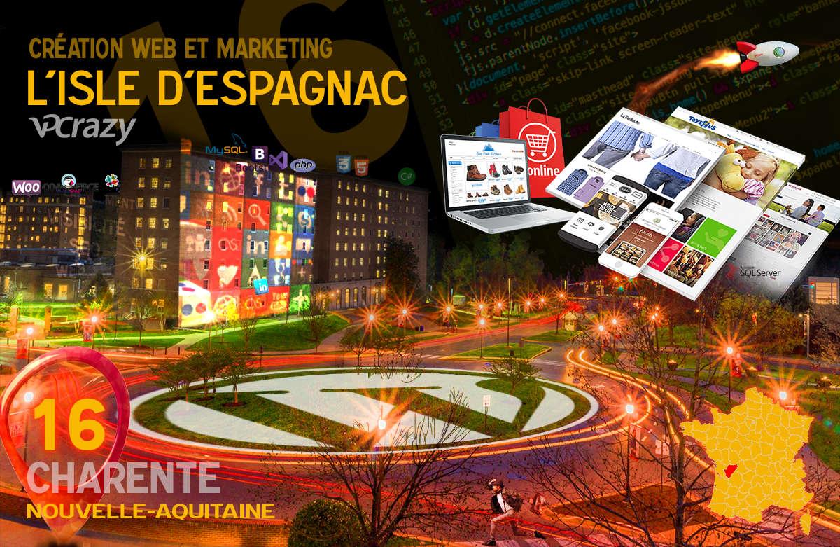 Créateur de site internet L'Isle-d'Espagnac et Marketing Web