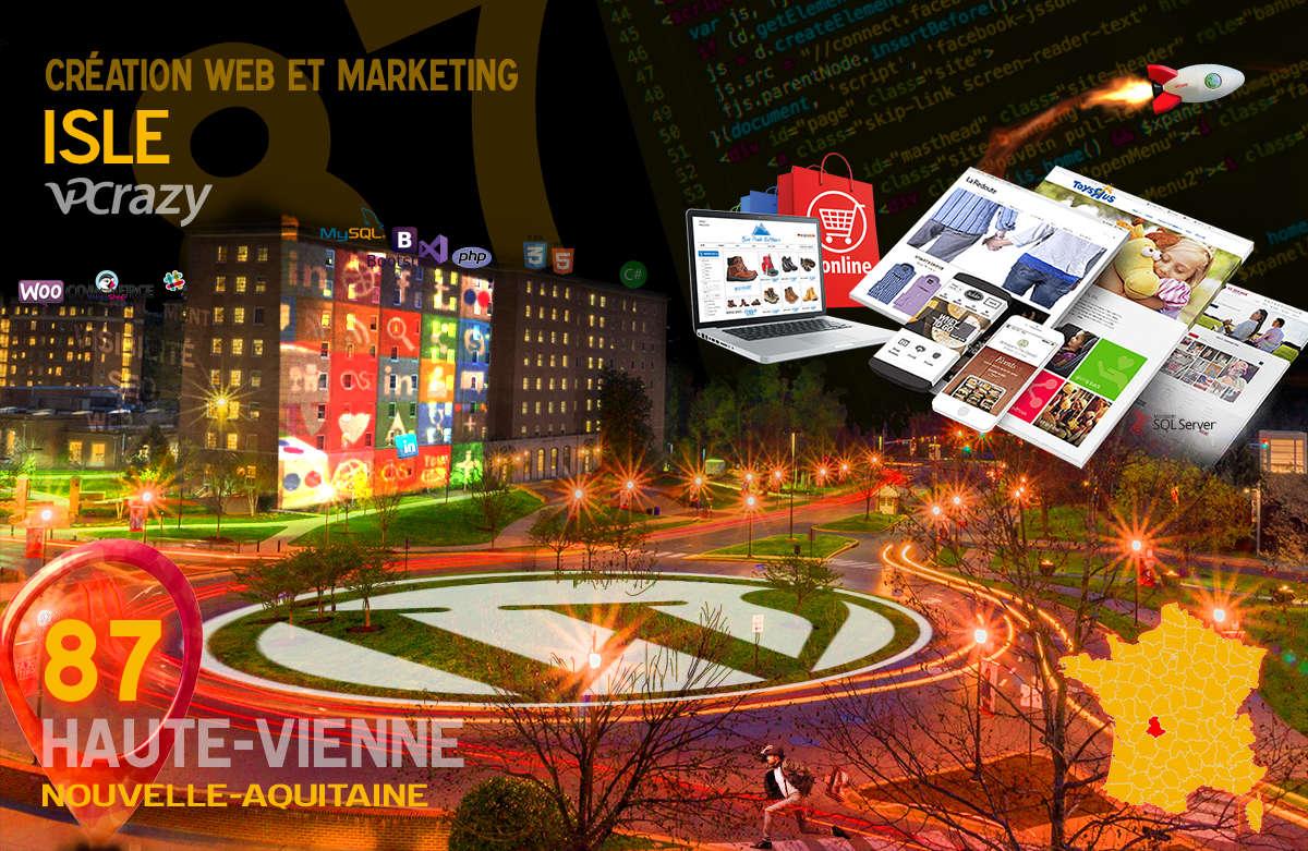 Créateur de site internet Isle et Marketing Web
