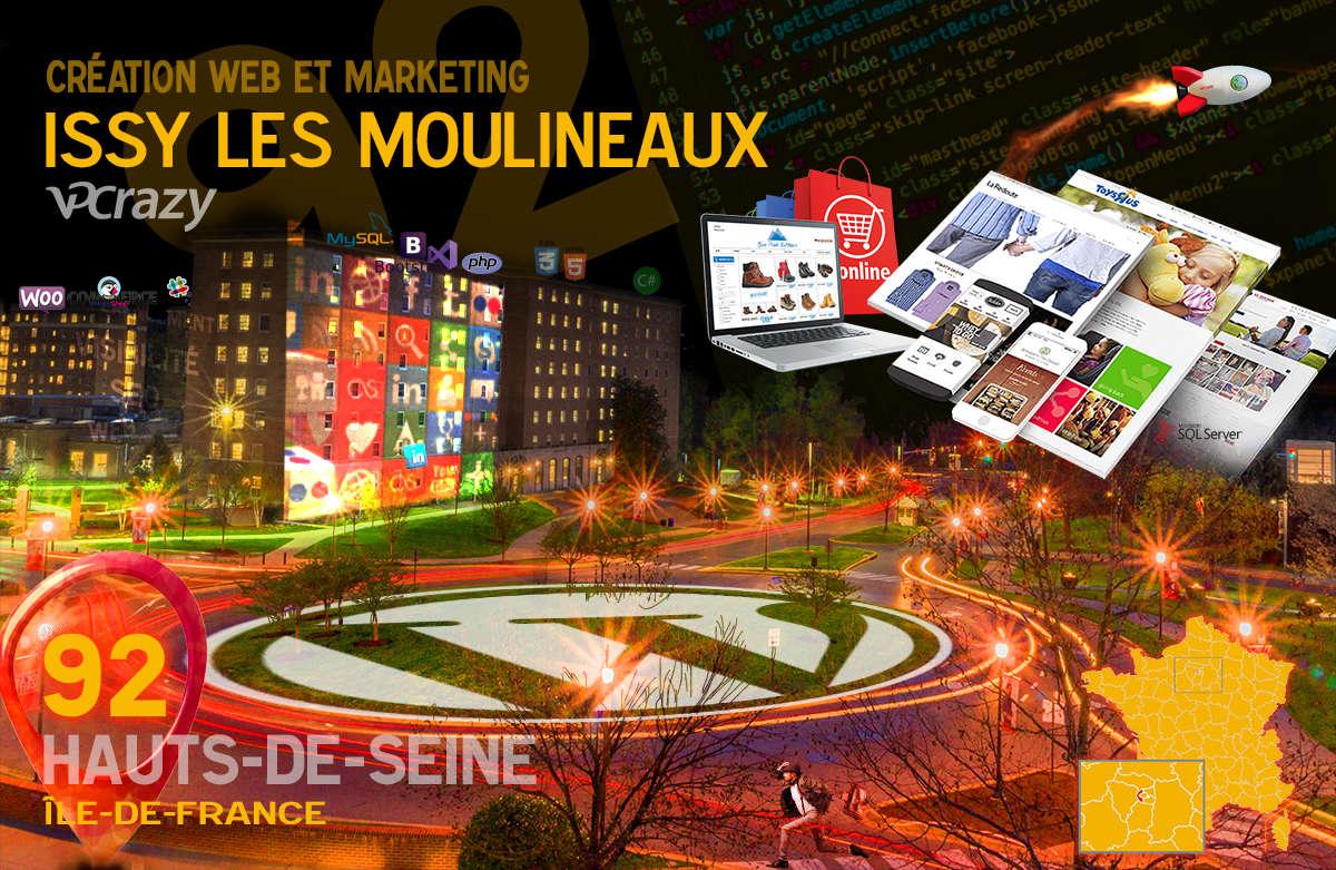 Créateur de site internet Issy-les-Moulineaux et Marketing Web