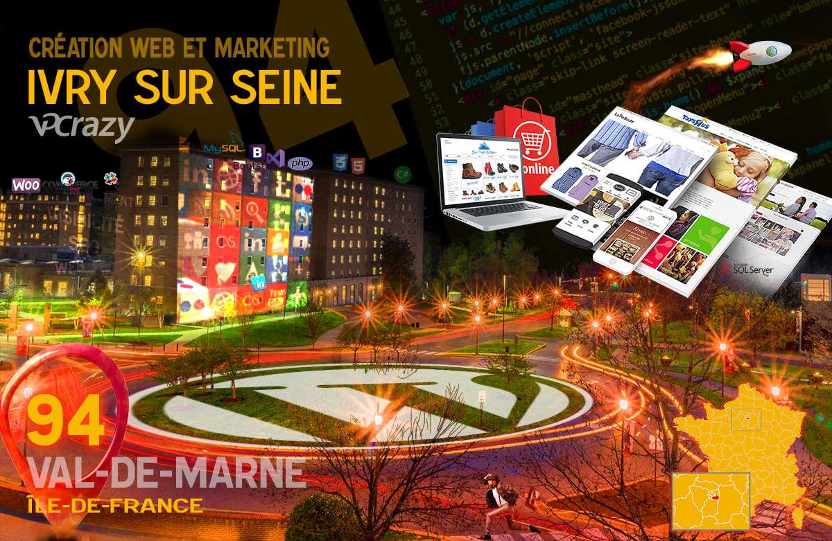 Créateur de site internet Ivry-sur-Seine et Marketing Web