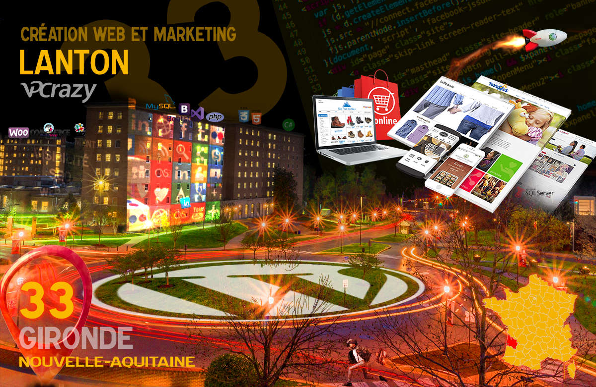 Créateur de site internet Lanton et Marketing Web