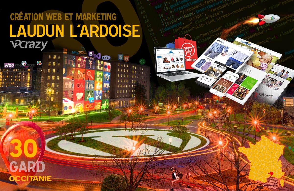 Créateur de site internet Laudun-l'Ardoise et Marketing Web