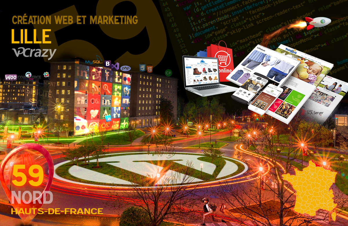 Créateur de site internet Lille et Marketing Web