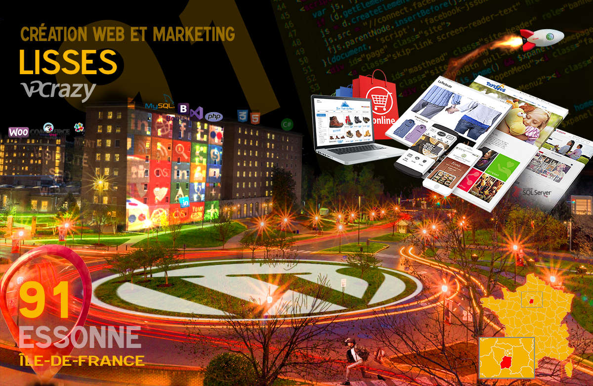 Créateur de site internet Lisses et Marketing Web