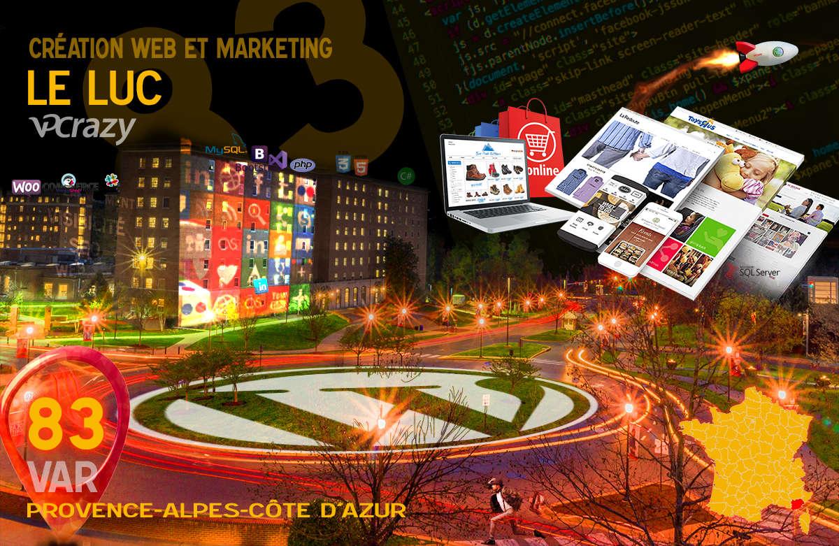 Créateur de site internet Le Luc et Marketing Web