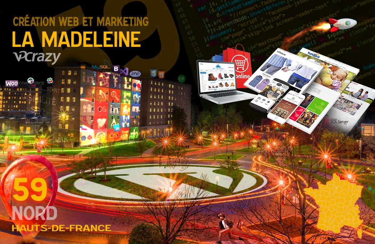 Créateur de site internet La Madeleine et Marketing Web
