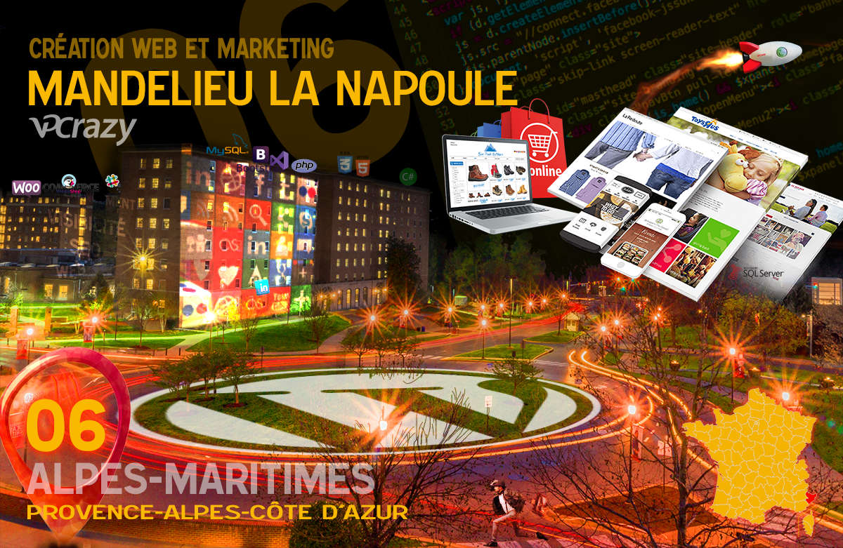 Créateur de site internet Mandelieu-la-Napoule et Marketing Web