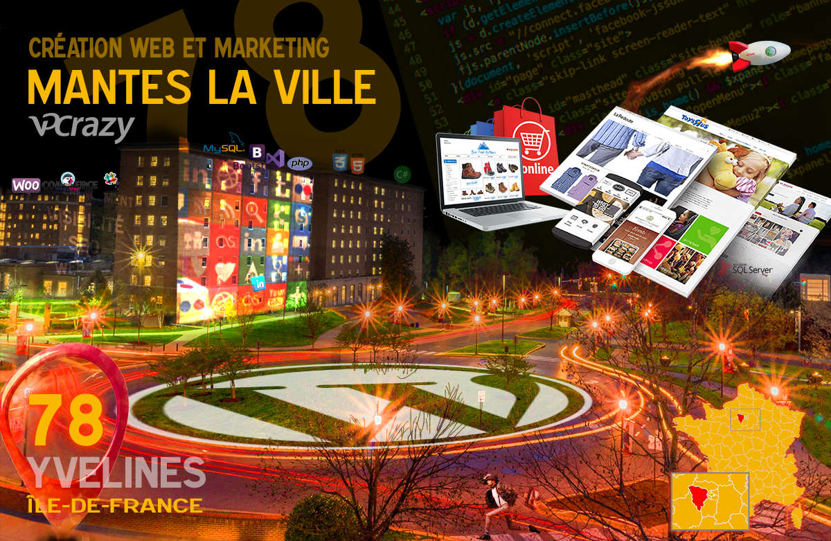 Créateur de site internet Mantes-la-Ville et Marketing Web