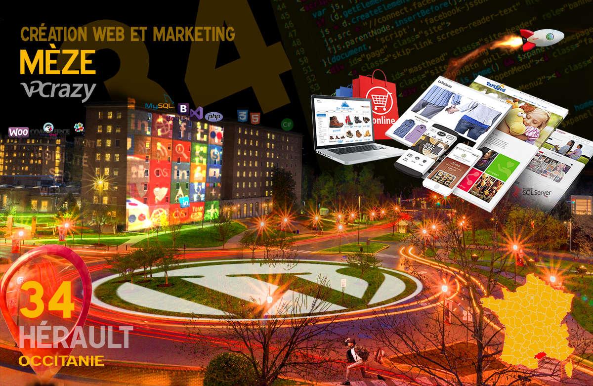 Créateur de site internet Mèze et Marketing Web