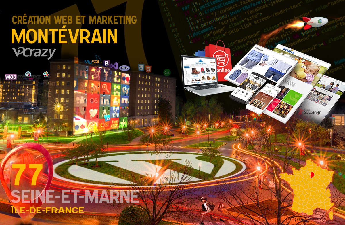Créateur de site internet Montévrain et Marketing Web