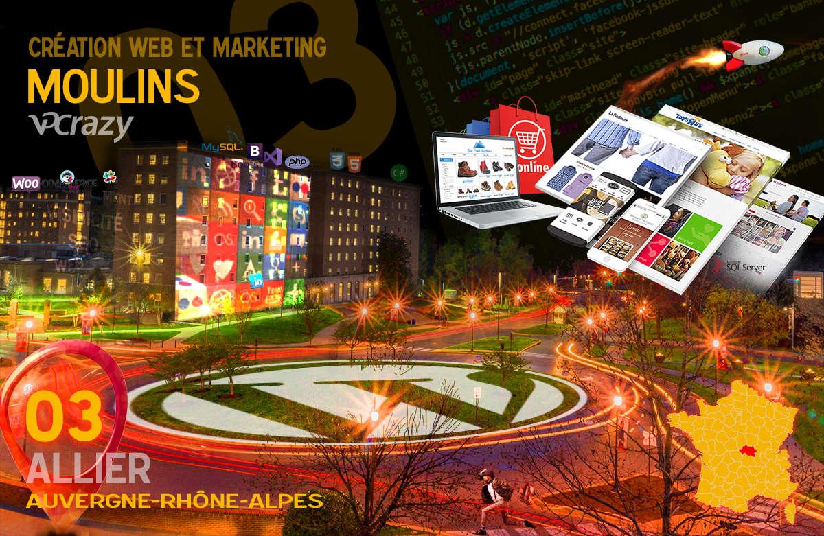 Créateur de site internet Moulins et Marketing Web