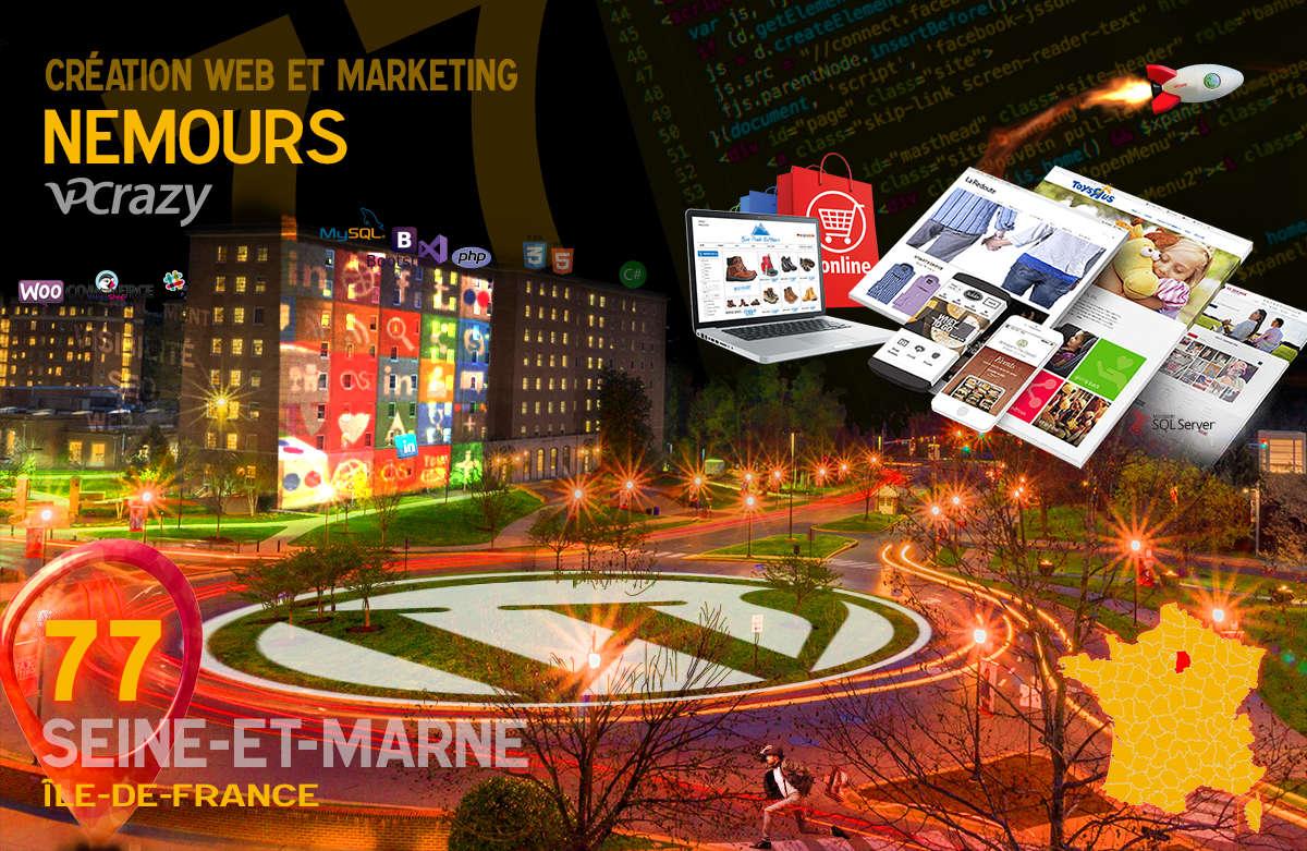 Créateur de site internet Nemours et Marketing Web