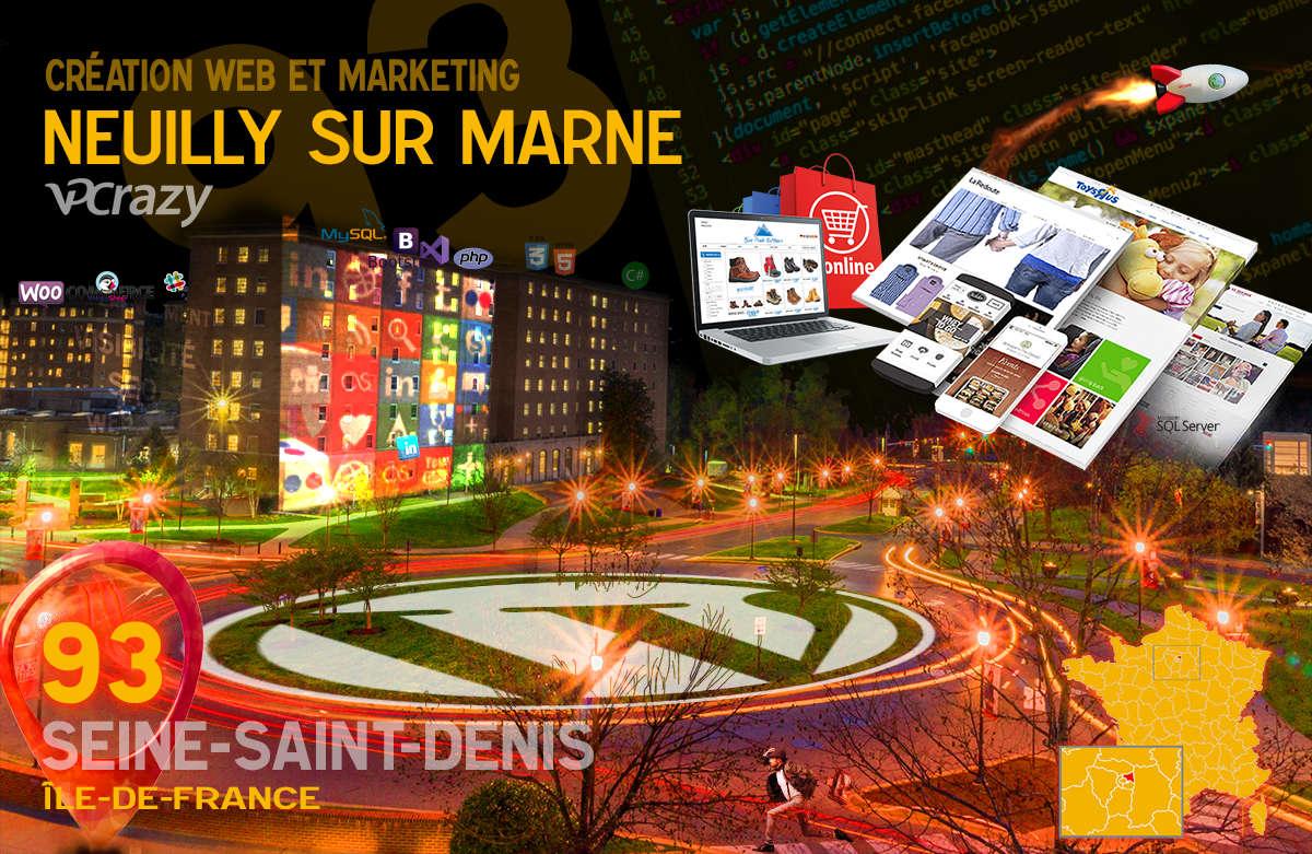 Créateur de site internet Neuilly-sur-Marne et Marketing Web