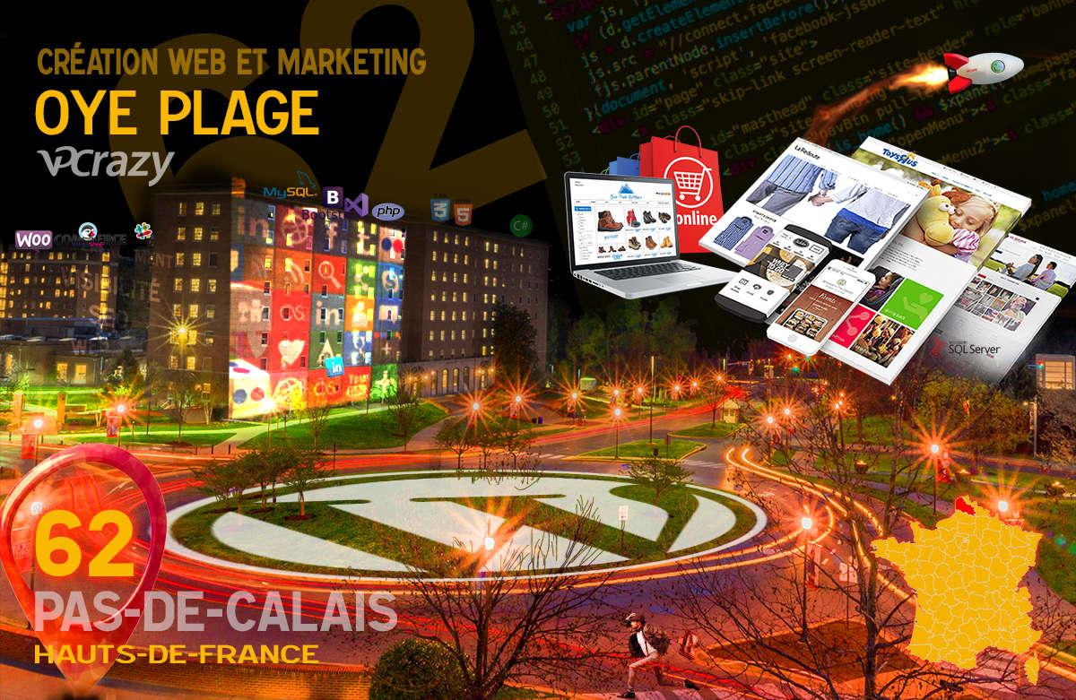 Créateur de site internet Oye-Plage et Marketing Web