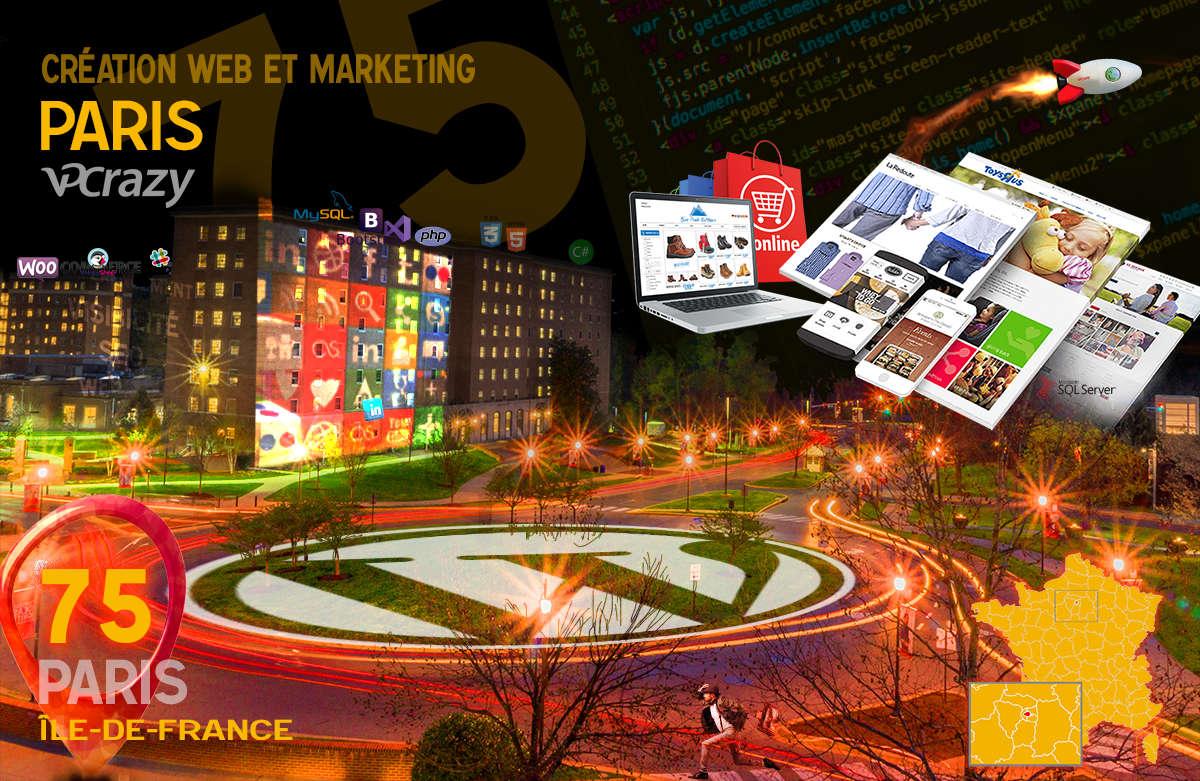 Créateur de site internet Paris et Marketing Web