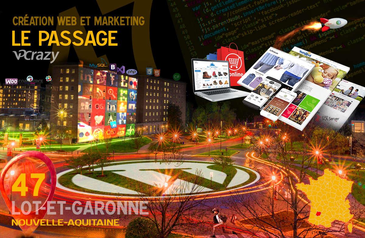 Créateur de site internet Le Passage et Marketing Web