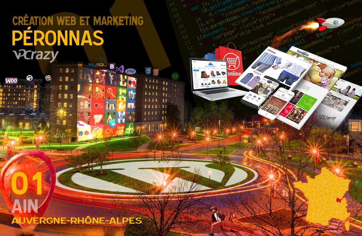 Créateur de site internet Péronnas et Marketing Web