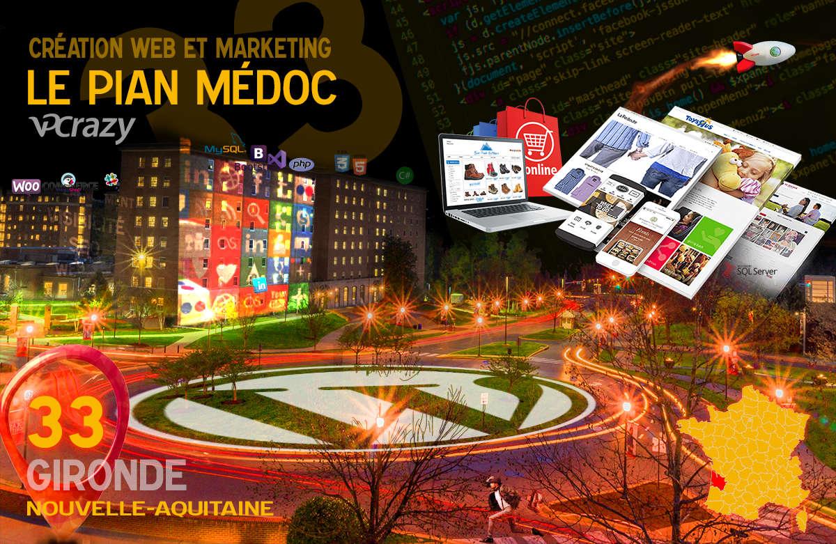 Créateur de site internet Le Pian-Médoc et Marketing Web
