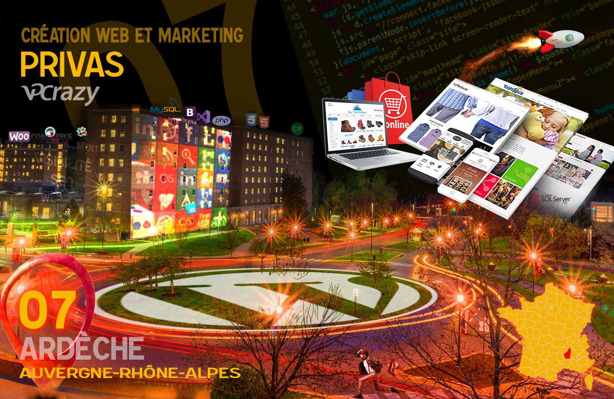Créateur de site internet Privas et Marketing Web