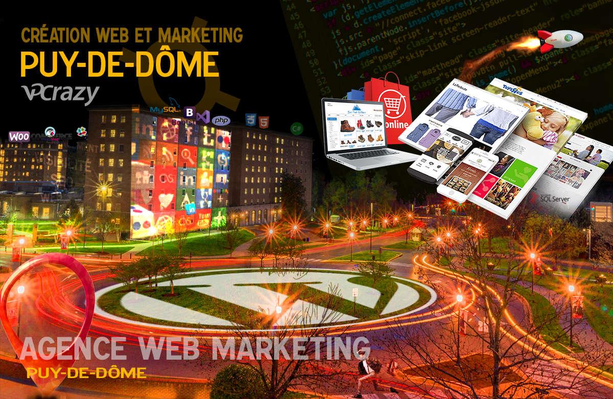 Créateur de site internet Puy-de-Dôme et Marketing Web