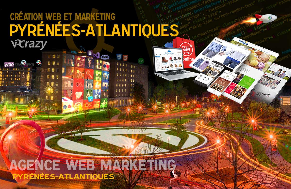 Créateur de site internet Pyrénées-Atlantiques et Marketing Web