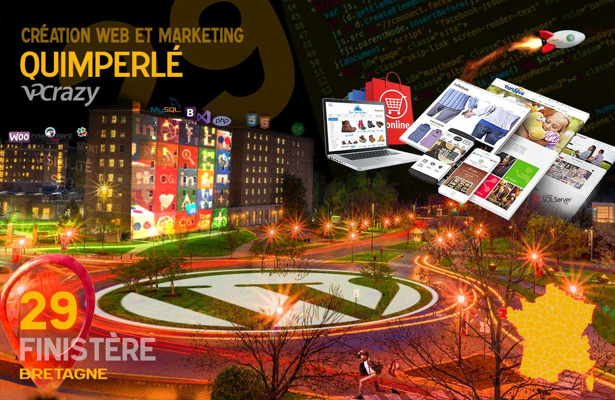 Créateur de site internet Quimperlé et Marketing Web