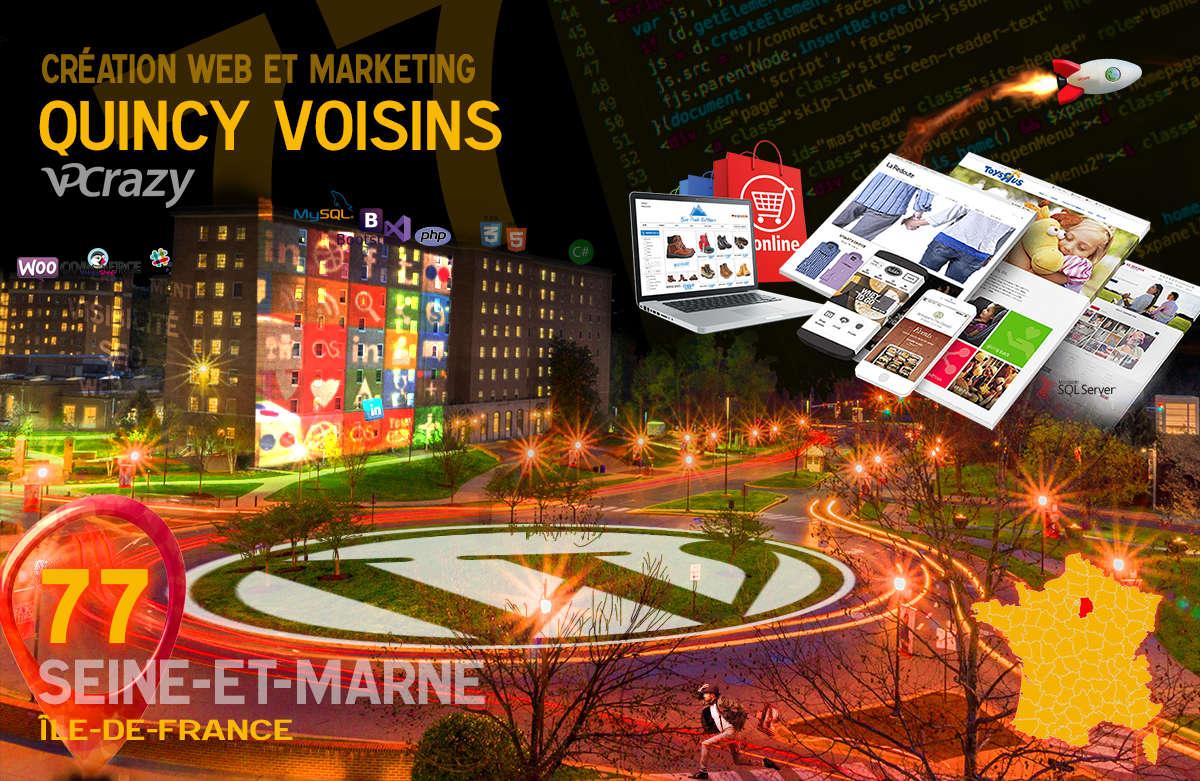 Créateur de site internet Quincy-Voisins et Marketing Web