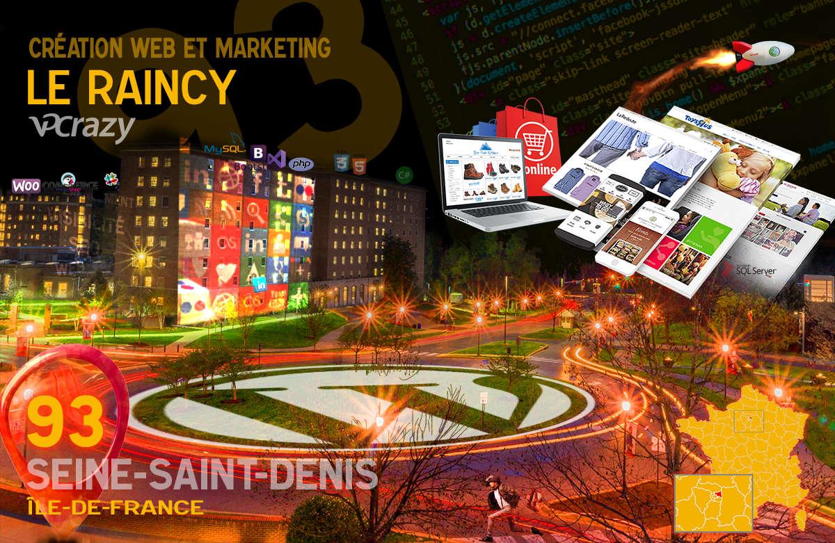 Créateur de site internet Le Raincy et Marketing Web