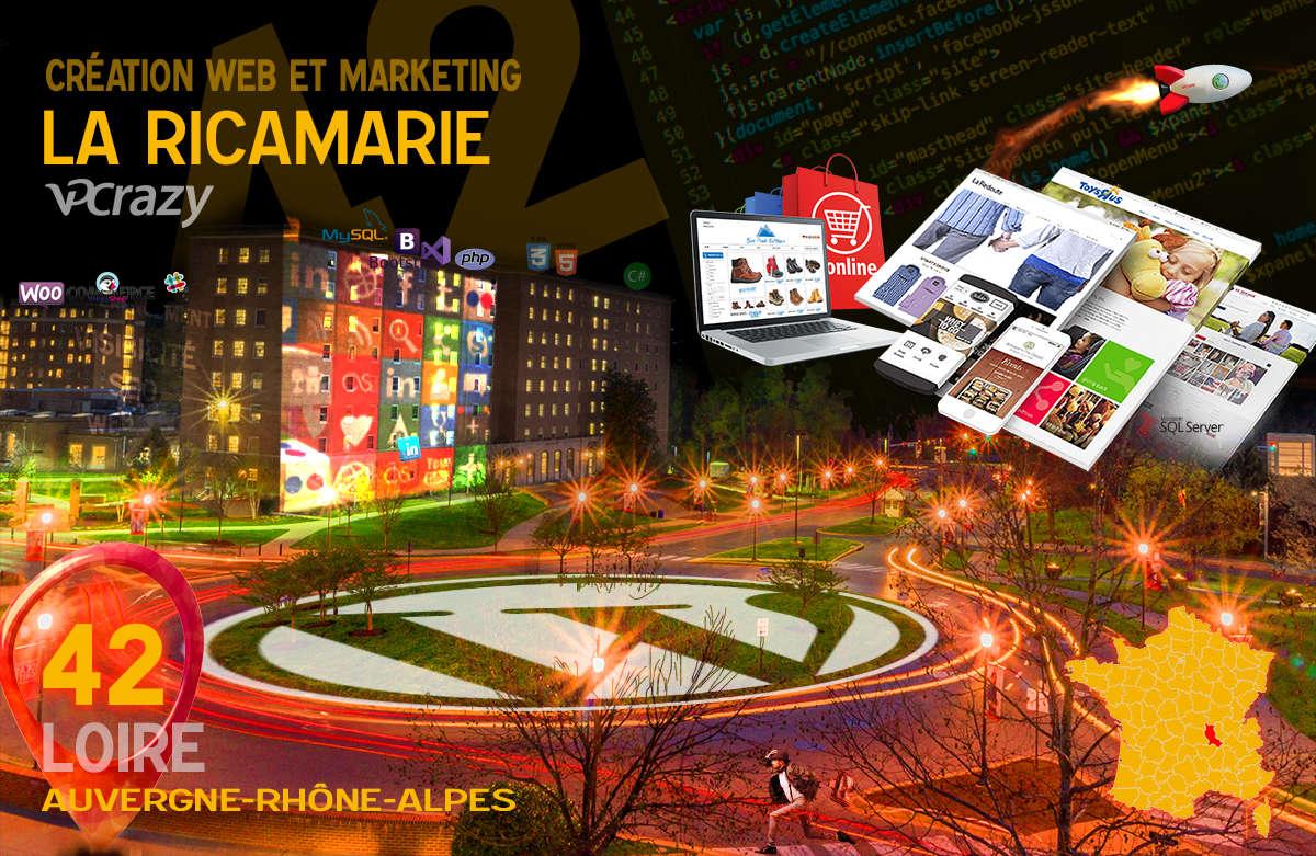 Créateur de site internet La Ricamarie et Marketing Web