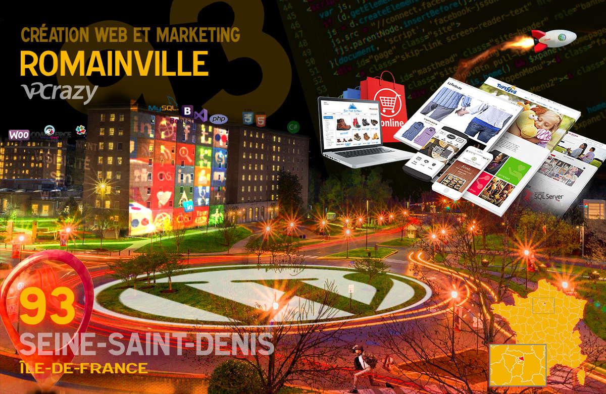 Créateur de site internet Romainville et Marketing Web