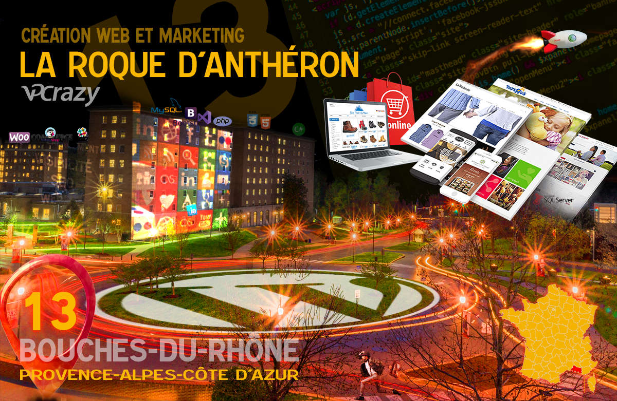 Créateur de site internet La Roque-d'Anthéron et Marketing Web