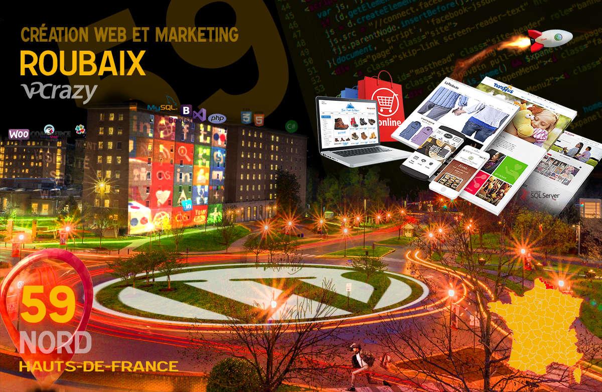 Créateur de site internet Roubaix et Marketing Web