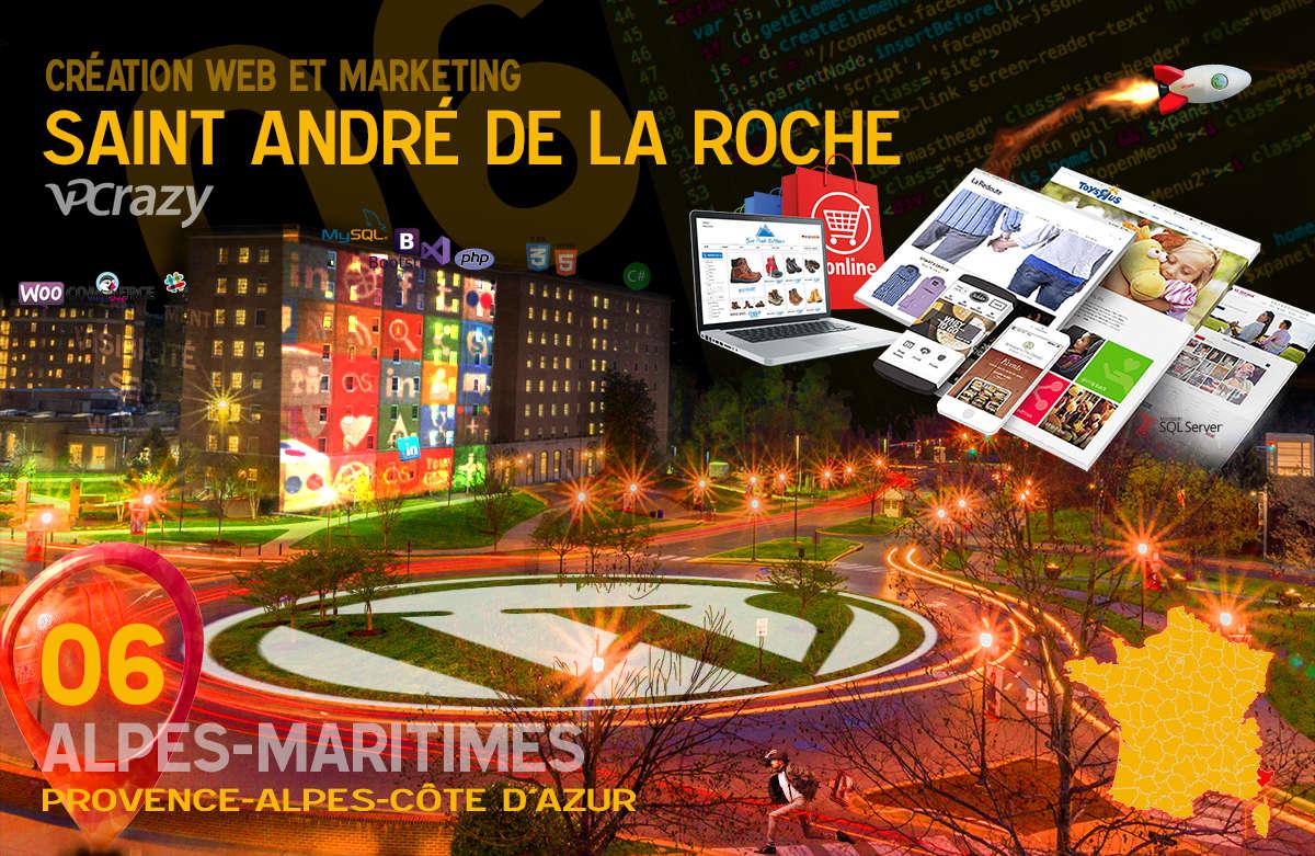 Créateur de site internet Saint-André de la Roche et Marketing Web