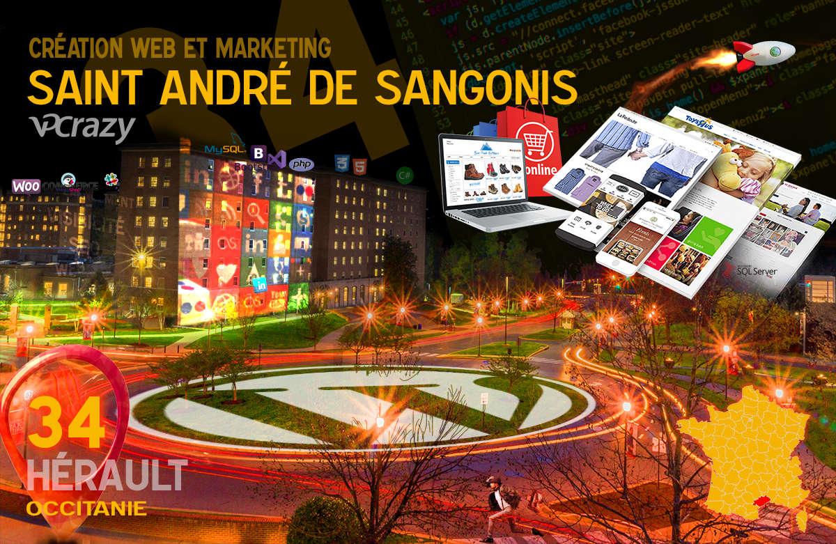 Créateur de site internet Saint-André-de-Sangonis et Marketing Web