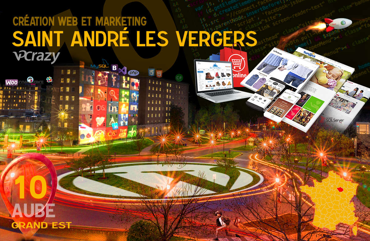Créateur de site internet Saint-André-les-Vergers et Marketing Web