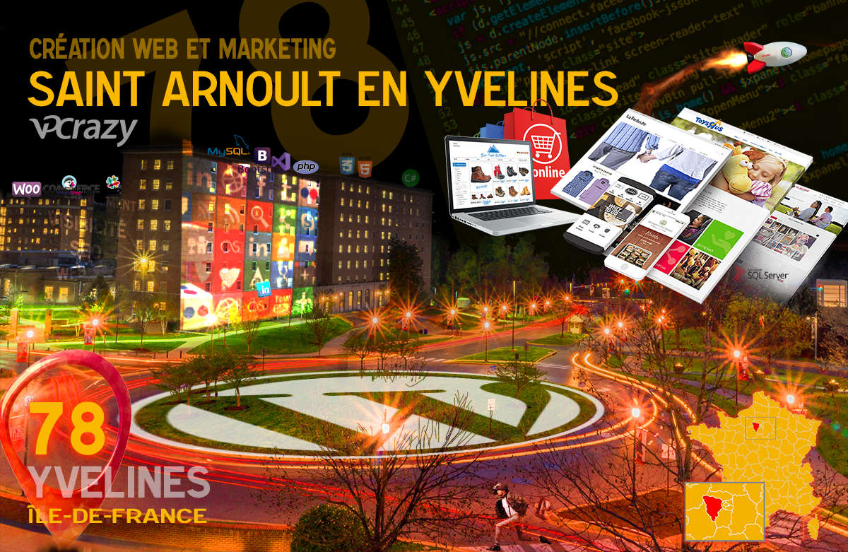 Créateur de site internet Saint-Arnoult-en-Yvelines et Marketing Web