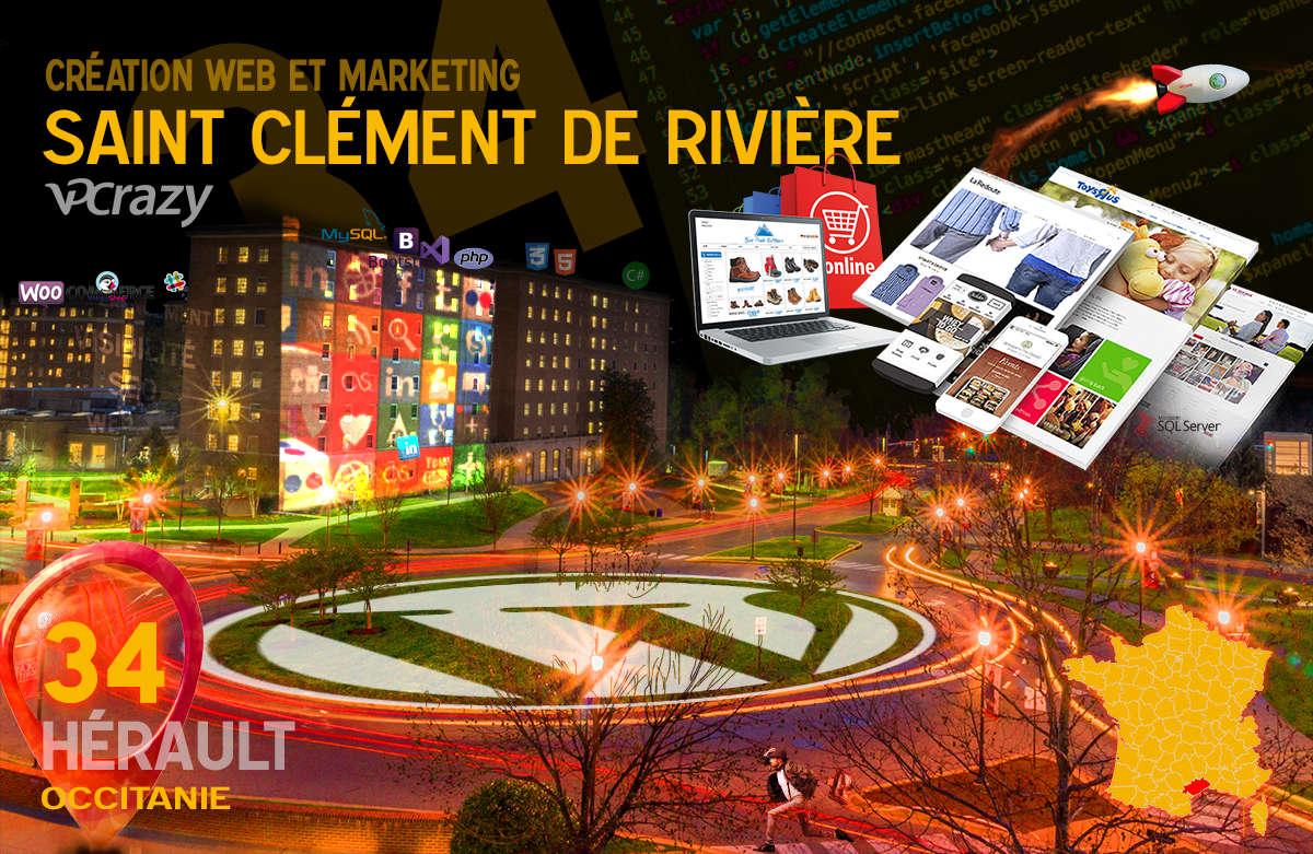 Créateur de site internet Saint-Clément-de-Rivière et Marketing Web