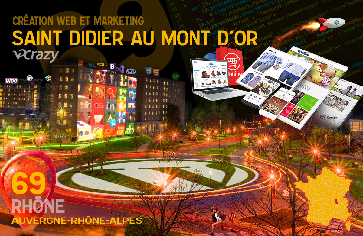 Créateur de site internet Saint-Didier-au-Mont-d'Or et Marketing Web