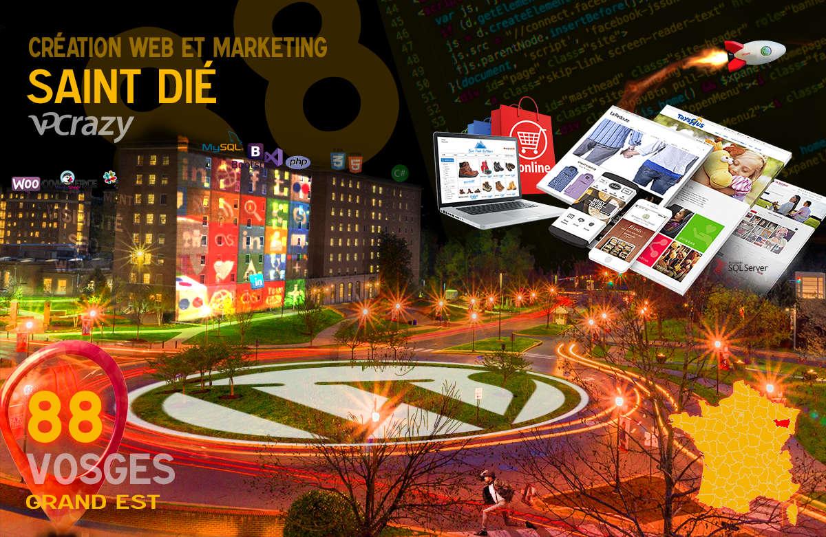 Créateur de site internet Saint-Dié et Marketing Web