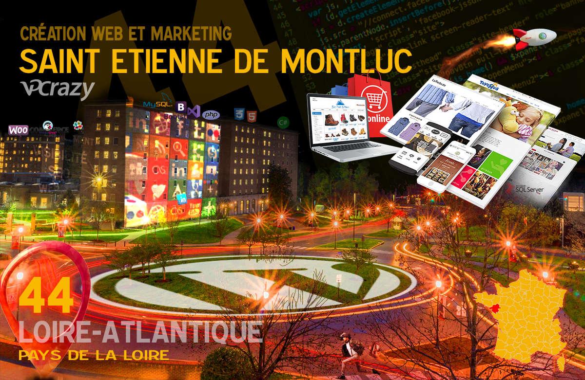Créateur de site internet Saint-Etienne-de-Montluc et Marketing Web