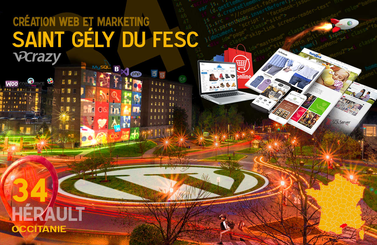 Créateur de site internet Saint-Gély-du-Fesc et Marketing Web