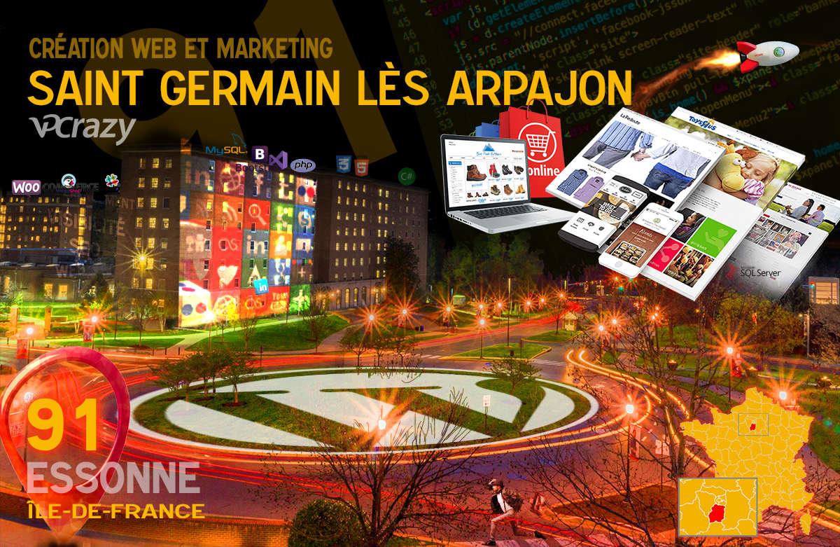 Créateur de site internet Saint-Germain-lès-Arpajon et Marketing Web