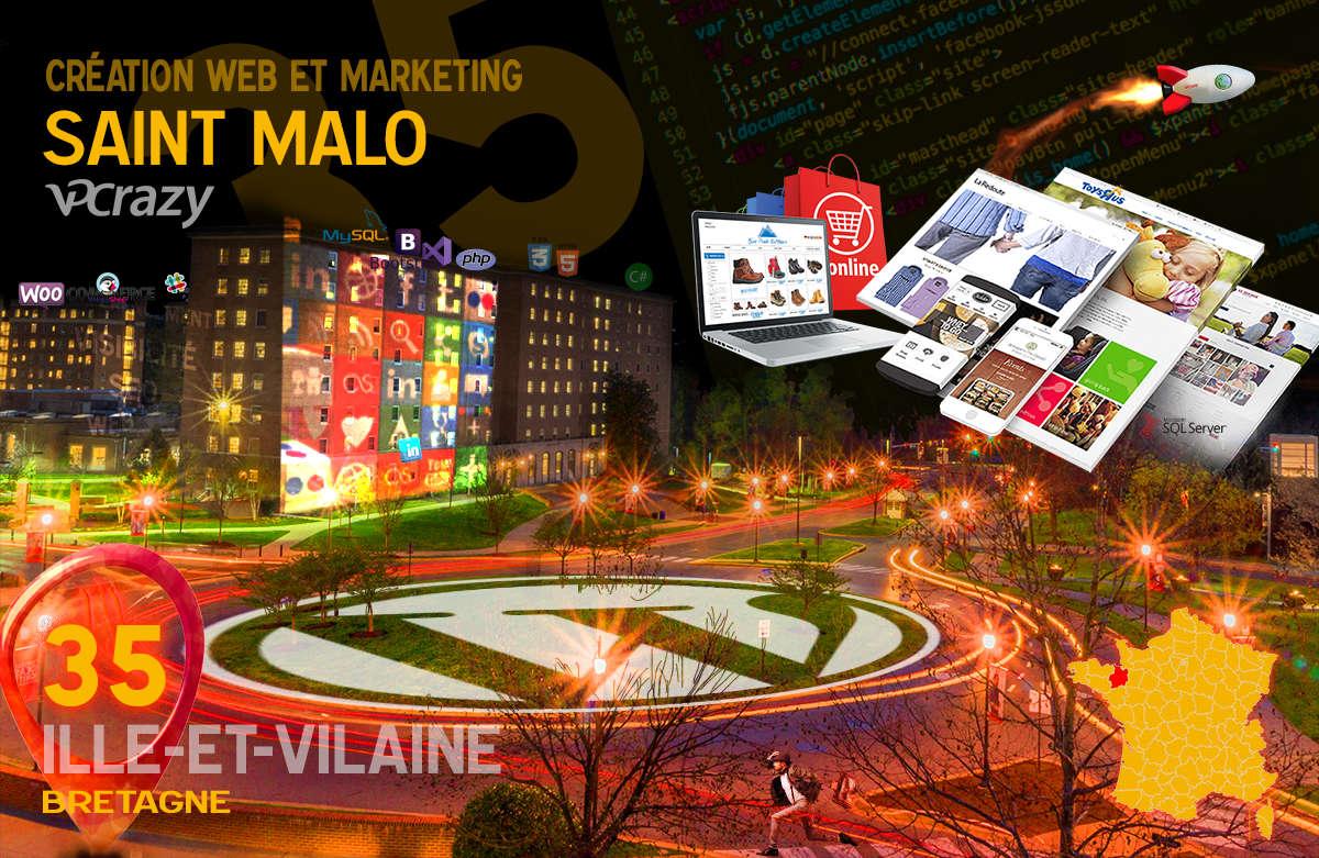 Créateur de site internet Saint-Malo et Marketing Web